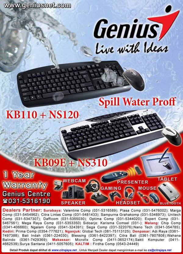 Genius KB-110 WaterProof Keyboard